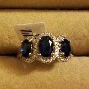 Jewelry - Beautiful simulated blue sapphire